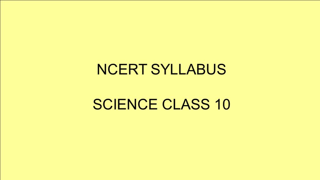 ncert science class 10